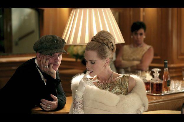 """Olivier Dahan et Nicole Kidman sur le tournage de """"Grace de Monaco""""."""