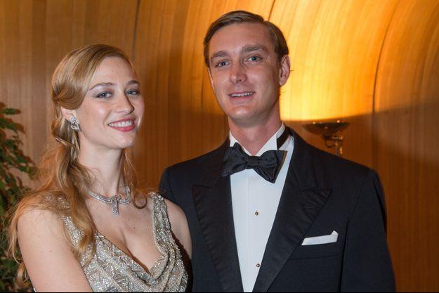 Pierre Casiraghi et sa fiancée Beatrice Borromeo au Bal de la rose à Monaco, le 28 mars 2015