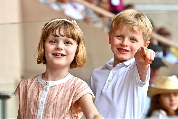 La princesse Gabriella et le prince Jacques de Monaco, le 20 juin 2021