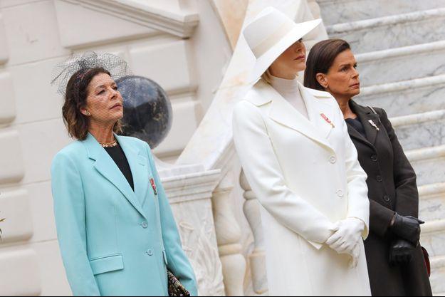 Les princesses Caroline, Charlène et Stéphanie de Monaco, à Monaco le 19 novembre 2019