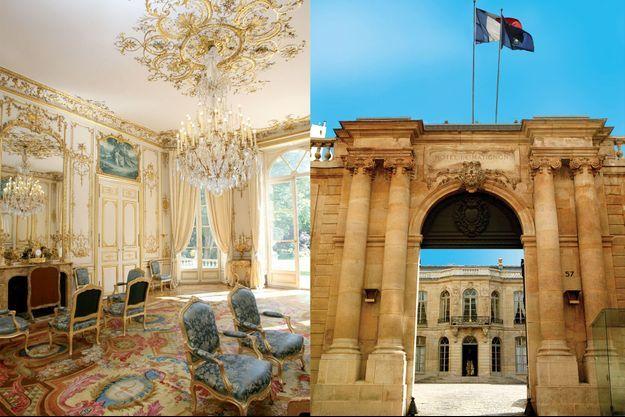 """Le Salon bleu de l'hôtel de Matignon à Paris était le """"cabinet doré"""" des princes de Monaco"""