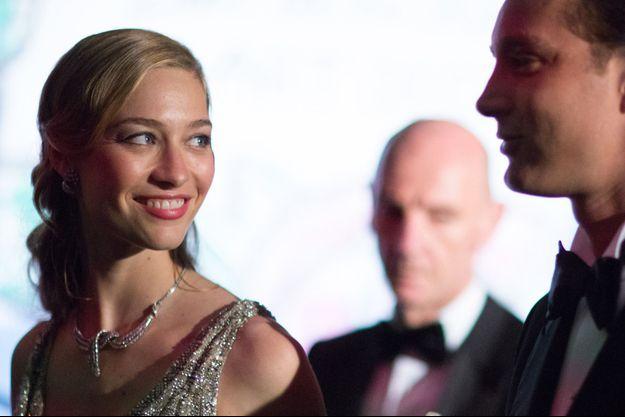 Béatrice et Pierre au bal de la Rose, en mars 2015.