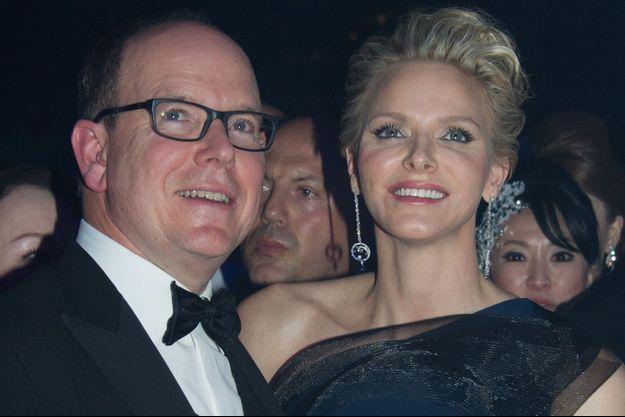 Albert et Charlène au Bal de la Rose, en mars dernier.
