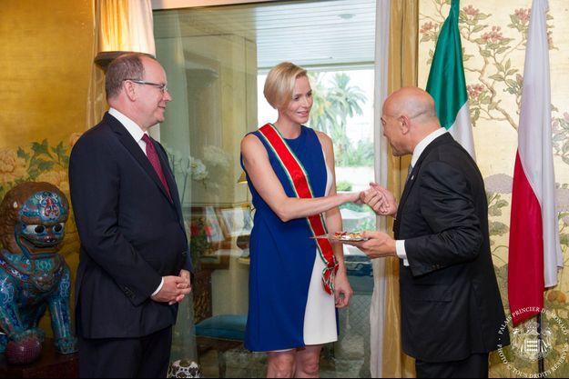 Charlène de Monaco a été faite Chevalier grand-croix de l'Ordre de l'Etoile d'Italie.