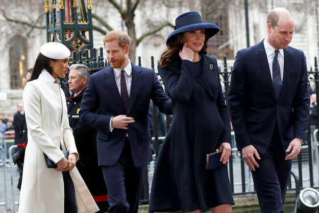 Meghan, Harry, Kate et William en mars 2018 à Westminster.