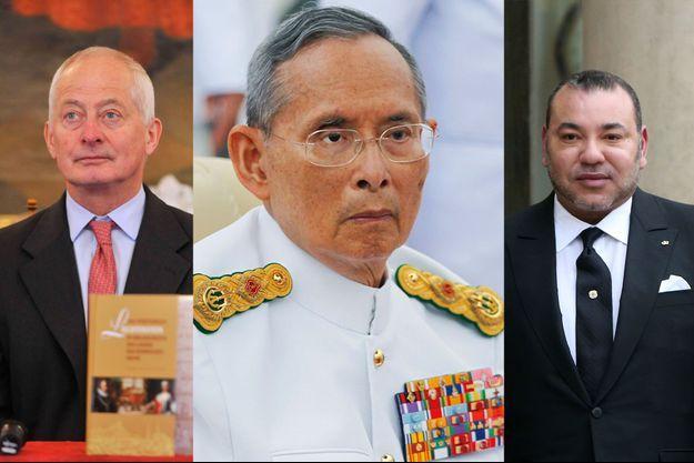 Hans-Adam de Liechtenstein le 20 mai 2014, le roi Bhumibol Adulyadej de Thaïlande le 9 juin 2012 et le roi Mohammed VI du Maroc le 9 février 2015