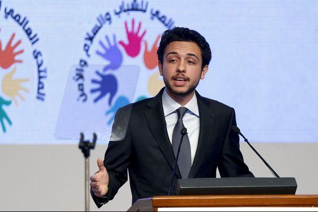 Le prince Hussein de Jordanie lance le Global Forum on Youth, Peace and Security à Madaba, le 21 août 2015