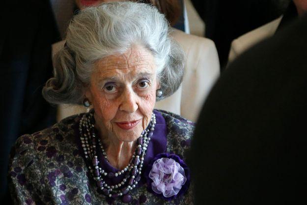 La reine Fabiola en mai 2013.