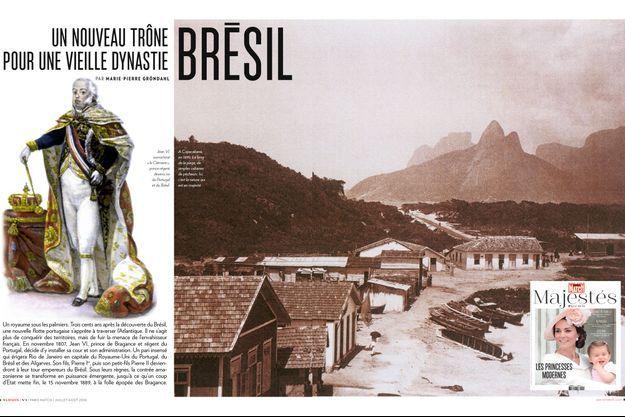 Le Brésil dans le hors série Paris Match Majestés