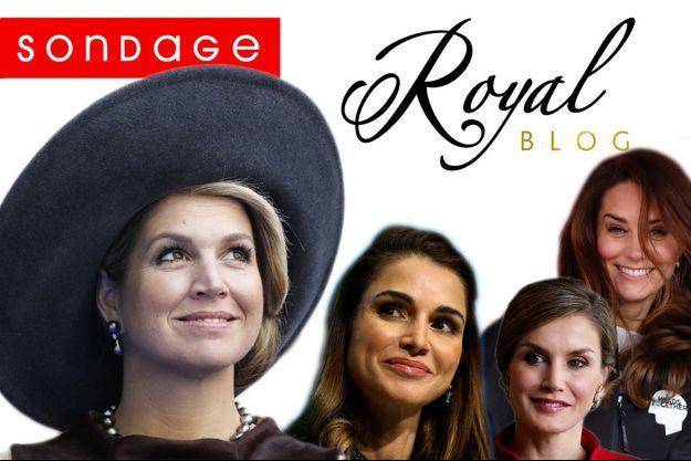 La reine Maxima des Pays-Bas, la reine Rania de Jordanie, la reine Letizia d'Espagne et la duchesse Catherine de Cambridge.