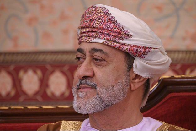 Le sultan d'Oman Haitham ben Tarek al-Saïd à Mascate, le 21 février 2020