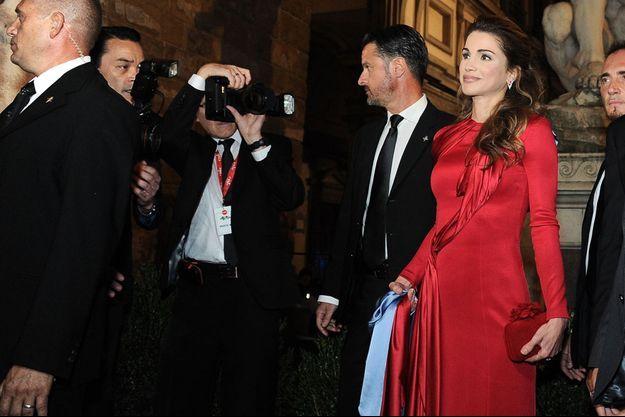 La reine Rania de Jordanie à Florence, le 11 septembre 2016