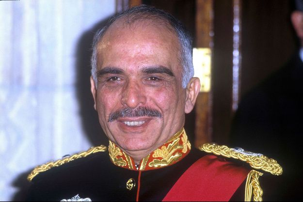 Le roi Hussein de Jordanie, le 23 mars 1984
