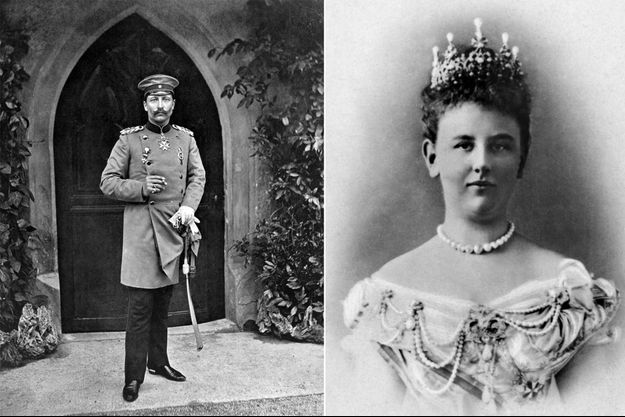 L'empereur d'Allemagne et roi de Prusse Guillaume II en 1918 – La reine Wilhelmine des Pays-Bas