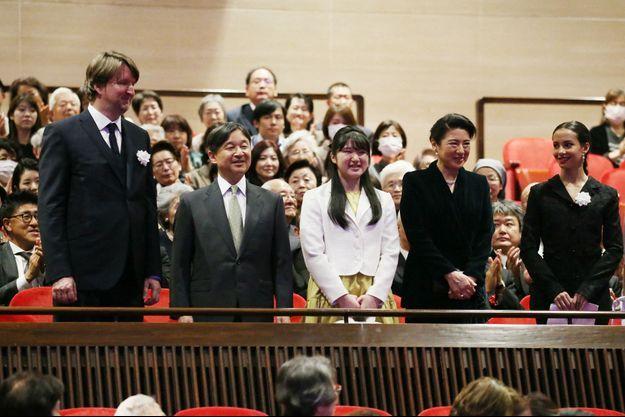 L'empereur Naruhito du Japon, la princesse Aiko et l'impératrice Masako à Tokyo, le 20 janvier 2020