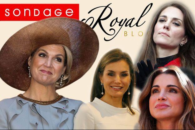 La reine Maxima des Pays-Bas, la reine Letizia d'Espagne, la reine Rania de Jordanie et la duchesse Catherine de Cambridge.