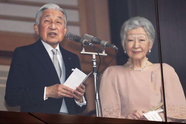 L'empereur Akihito du Japon et l'impératrice Michiko à Tokyo, le 23 décembre 2018