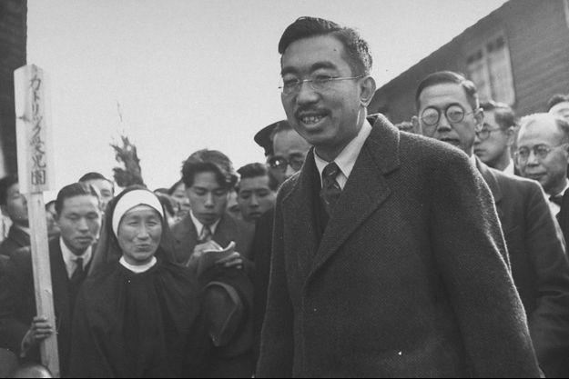 L'empereur Hirohito du Japon à Hiroshima, le 1er décembre 1947