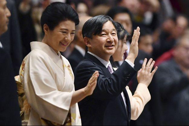 L'impératrice Masako et l'empereur Naruhito du Japon avec leur fille la princesse Aiko à Tokyo, le 25 janvier 2020