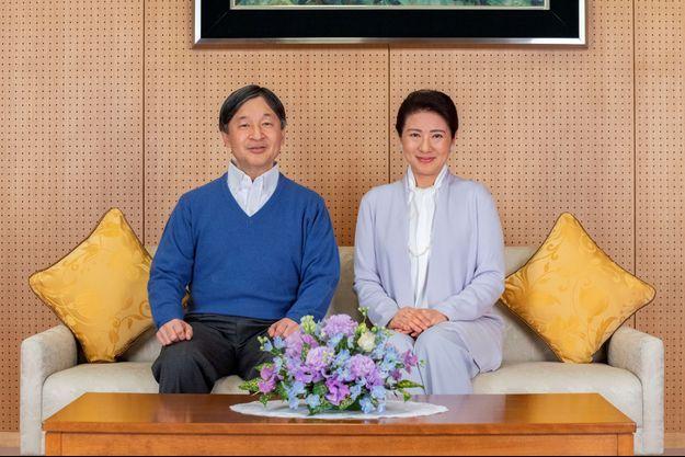 L'un des portraits de l'empereur Naruhito du Japon pour ses 61 ans, avec sa femme l'impératrice Masako, diffusés le 23 février 2021