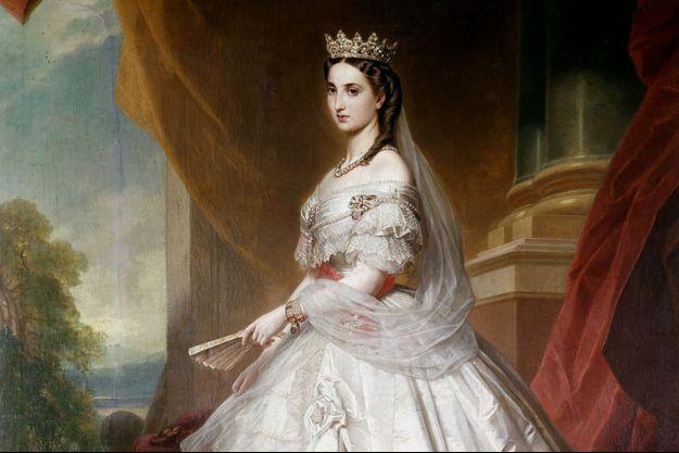 Portrait de l'impératrice Charlotte du Mexique par Albert Grafle (détail)