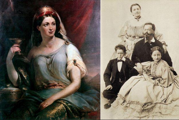 Portrait de Rosa Vercellana (Museo Nazionale del Risorgimento, Turin) – Avec le roi Victor-Emmanuel II et leurs enfants