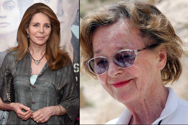 L'ancienne reine Noor de Jordanie à New York, le 12 octobre 2015 (à gauche) et sa mère Doris Halaby à Petra, en mai 2004 (à droite)