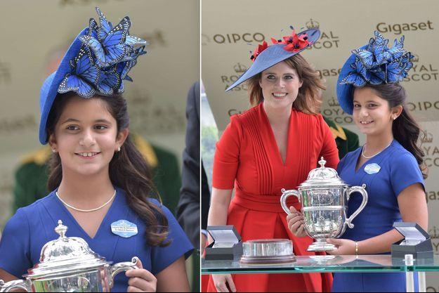 La Sheika Al Jalila et la princesse Eugenie d'York à Ascot, le 22 juin 2017