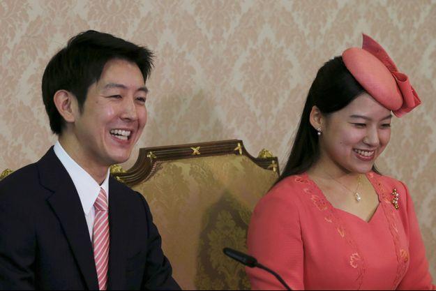 La princesse Ayako du Japon et son fiancé Kei Moriya à Tokyo, le 2 juillet 2018