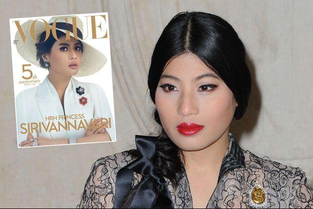 """La princesse Sirivannavari Nariratana de Thaïlande (ici à Paris le 26 septembre 2017) fait la une de """"Vogue"""" Thaïlande"""