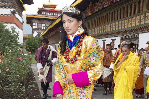 La reine Jetsun Pema, le 15 octobre 2011, 4e jour des cérémonies de son mariage avec le roi du Bhoutan Jigme Khesar Namgyel Wangchuck