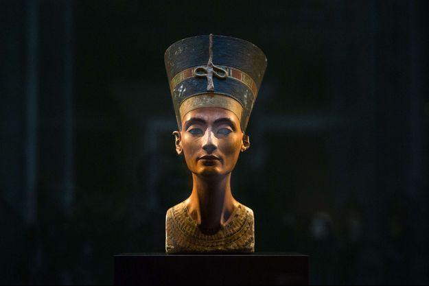Le buste de la reine Néfertiti au Neues Museum à Berlin, le 10 septembre 2014