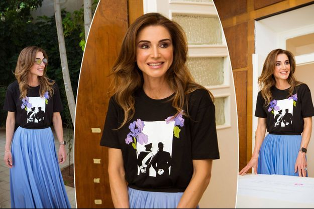 La reine Rania de Jordanie à Amman, le 25 août 2019
