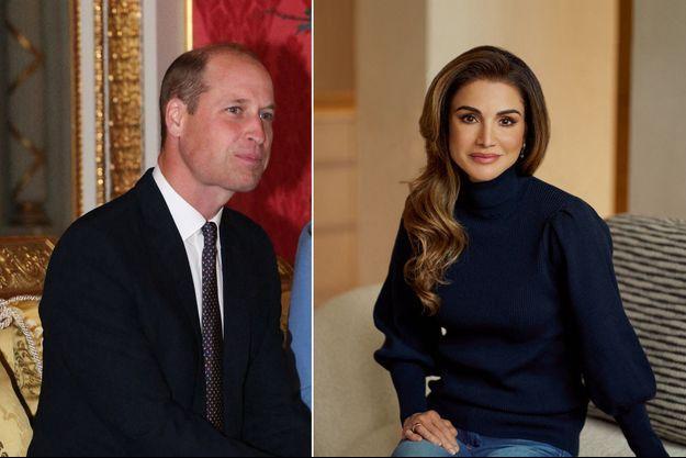 Le prince William, le 7 octobre 2020 - La reine Rania de Jordanie, photo diffusée pour ses 50 ans, le 31 août 2020