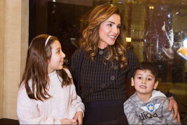 La reine Rania de Jordanie au Children's Museum Jordan à Amman, le 14 janvier 2019