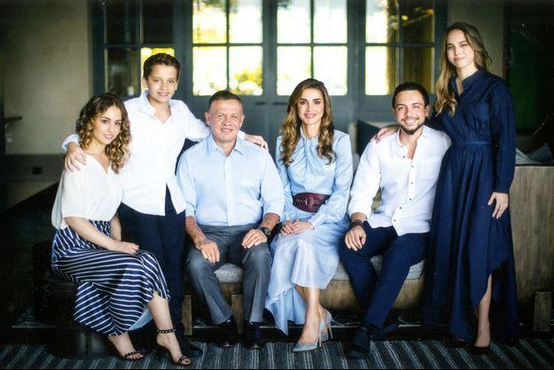 La carte de voeux de la famille royale de Jordanie.