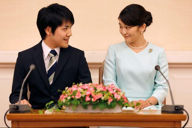 La princesse Mako du Japon et Kei Komuro à Tokyo le 3 septembre 2017