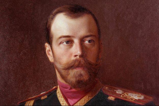 Détail d'un portrait du tsar Nicolas II (Peterhof castle, St. Petersburg)