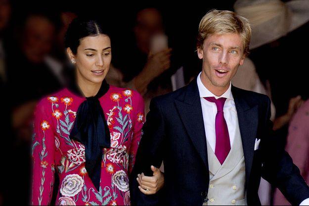 Le prince Christian de Hanovre et sa fiancée Alessandra de Osma à Hanovre le 8 juillet 2017