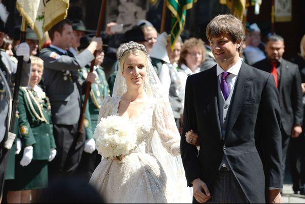 Le prince Ernst-August de Hanovre junior et Ekaterina Malysheva, le 8 juillet 2017, jour de leur mariage religieux