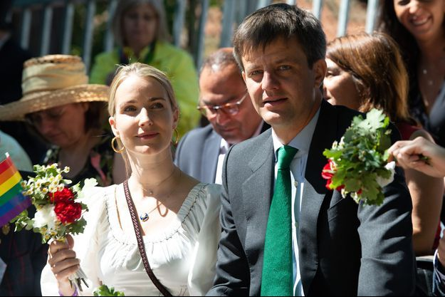 Le prince Ernst August de Hanovre Junior et sa femme Ekaterina Malysheva à Hanovre, le 1er juillet 2018