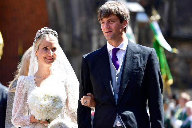 Le prince Ernst August de Hanovre junior et Ekaterina Malysheva à Hanovre, le 8 juillet 2017, jour de leur mariage