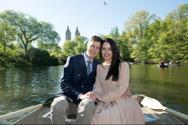 Le prince Leka II d'Albanie et la princesse Elia à New York, le 4 mai 2017