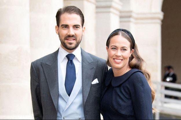 Le prince Philippos de Grèce et Nina Flohr à Paris, le 22 octobre 2019