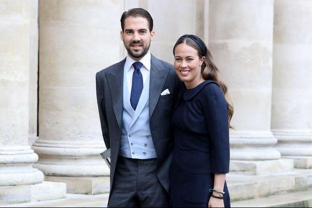 Le prince Philippos de Grèce et Nina Flohr, le 19 octobre 2019