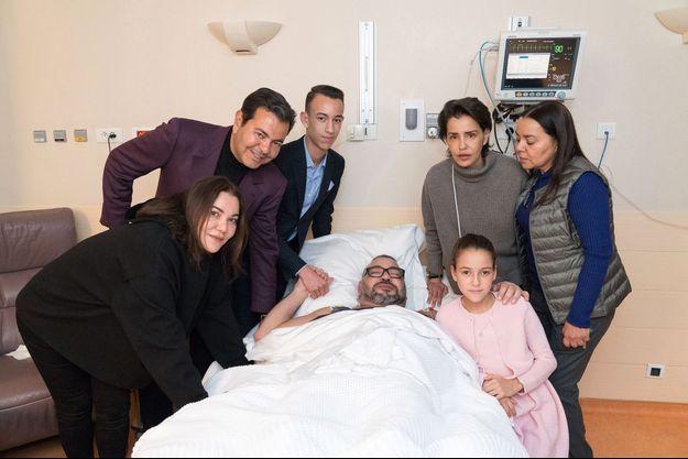 Mohammed VI suite à l'opération