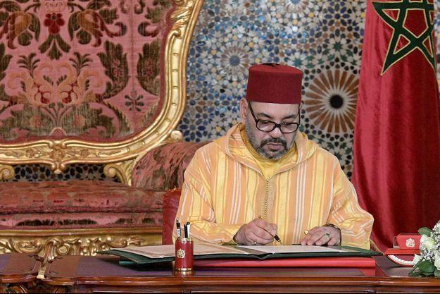 Le roi Mohammed VI du Maroc à Rabat le 30 mars 2019, lors de la visite du pape François au Maroc