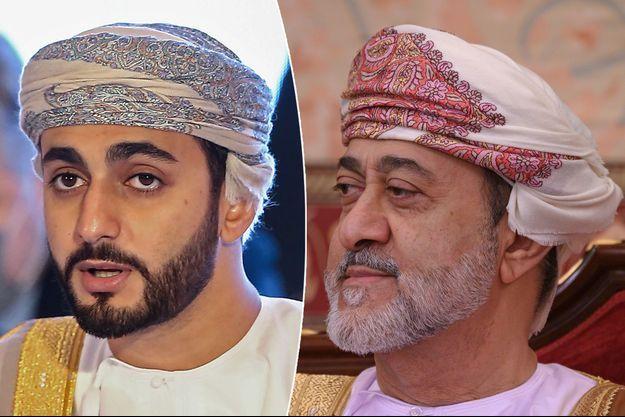Le prince Theyazin d'Oman, le 16 décembre 2020 – Son père, le sultan Haitham ben Tarek d'Oman, le 21 février 2020