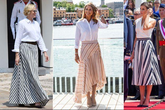 La princesse Charlène de Monaco le 30 juin 2019 - La princesse Madeleine de Suède le 4 juin 2019 - La reine Letizia d'Espagne le 11 juillet 2019