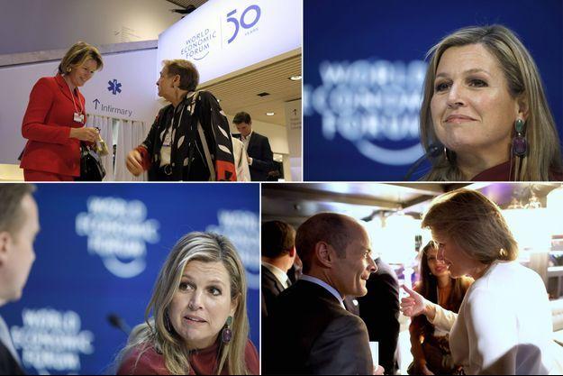 La reine des Belges Mathilde et la reine Maxima des Pays-Bas au Forum économique mondial à Davos, les 22 et 21 janvier 2020